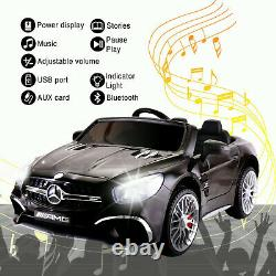 12V Kids Ride On Toy Mercedes Benz Electric Car Two seats with Remote MP3 Black