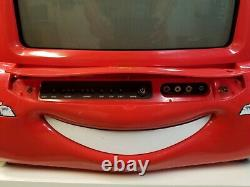 Disney Pixar Cars 19 LCD TV LIGHTNING MCQUEEN WITH SPOILER NO REMOTE SEE DETAIL