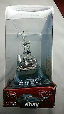 Disney Pixar Cars 2 Crabby Exclusive With Rolling Base Factory Sealed Box Nib