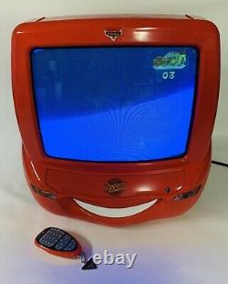 Disney Pixar Cars Lightning McQueen 13 Color TV DVD With Remote TESTED