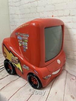 Disney Pixar Cars Lightning McQueen 13 Color TV TESTED Red Race Car With REMOTE
