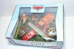 Disney Pixar Cars Tractor Tipping Die Cast 6-pack Set Frank Mcqueen And Mater