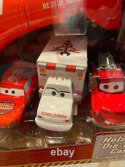 Disney STORE Pixar Cars Toon HELICOPTER W SOUND RESCUE MATER AMBULANCE NWB