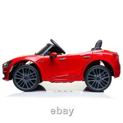 Kids Ride On Car Maserati 12V Rechargeable Vehicle Toys with MP3 Music Player Red
