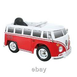 NEW VW Bus Ride-on Kids Vehicle Car 6 Volt Battery Powered Red